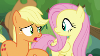 Applejack -like talkin' to Angel Bunny-- S8E23