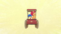 Applejack in her old-fashioned cart S6E14