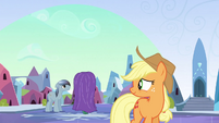 Applejack looks to the left S3E2