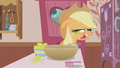 Applejack makes a face when Pinkie asks for wheat germ S1E4.png