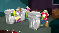 Cutie Mark Crusaders next to the trash cans SS11