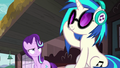 DJ Pon-3 listening to her tunes S7E24.png