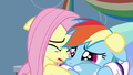 Fluttershy crying alongside Rainbow Dash S5E5.png