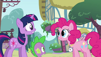 Pinkie Pie 'Between the swimming hole and Sweet Apple Acres' S3E3