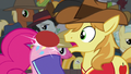 Pinkie bounces Fluttershy's serve off her rump S6E18.png