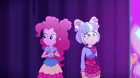 Pinkie looks at crowd; Su-Z looks sad EGSBP