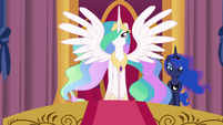 Princess Celestia outstretching her wings EGFF