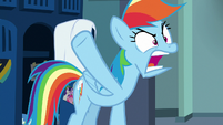 Rainbow Dash -hanging up a towel-!- S7E7