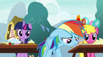 Rainbow Dash feeling guilty S7E23