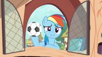 Rainbow with football S4E21