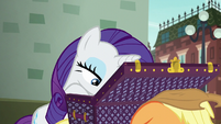 Rarity looking through her luggage S5E16