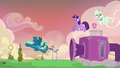 Sky Stinger flying against a gust of wind S6E24.png