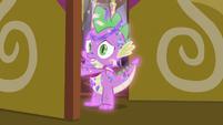 Spike opening the castle door MLPBGE