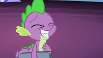 Spike with an awkward grin S7E22