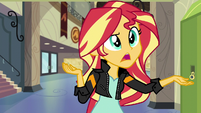 "Sunset Shimmer ""randomly popping up"" EG3"