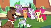 Sweetie Belle upset about not seeing the palace S03E11