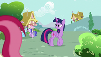 Twilight Sparkle looking for Rarity S7E14