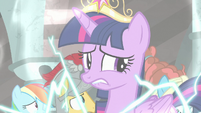 Twilight Sparkle nervously bites her lower lip S7E26