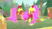 Twilight and Spike teleport out of fruit S9E5
