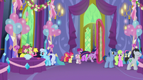 Twilight gallops out of the party hall S7E1