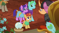 Villager colt approaches Empress Sable S7E16