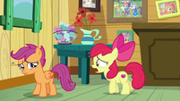 Apple Bloom -ride their scooter ahead of us- S9E12