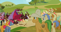 Apple family surrounds the barn S3E8