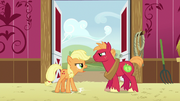 Applejack stamps a hoof on the ground S6E23