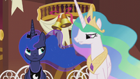 "Celestia ""next time you can just bring your own gift"" S5E9"