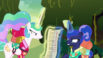Celestia and Luna fight over the list S9E13
