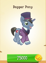 Dapper Pony MLP Gameloft