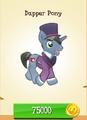 Dapper Pony MLP Gameloft.png