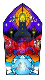 FANMADE The bell of freedom stained glass by yula568
