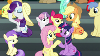 Fluttershy --done getting their snacks-- S6E7