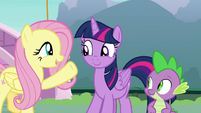 Fluttershy -that's a wonderful idea!- S8E18