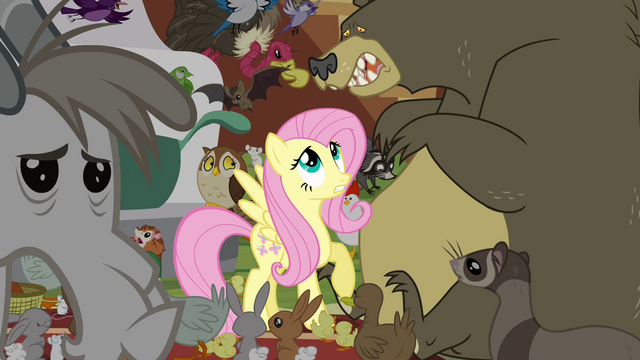 File:Fluttershy and scared bear S4E01.png