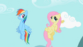 Fluttershy putting hoof in cloud S2E07.png