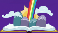 Friendship journal opens to bright rainbow S7E14