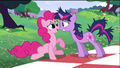 Pinkie Pie scared of Twilight S2E3.png