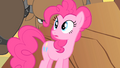 Pinkie Pie staring at buffalo who are surrounding her S01E21.png