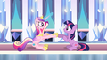 Princess Cadance and Twilight clap their hooves S03E01.png
