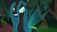 Queen Chrysalis getting angry at fake Twilight S8E13
