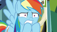 Rainbow Dash looking very worried S9E21