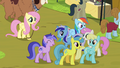 Rainbow Dash trying to move past crowd S4E22.png