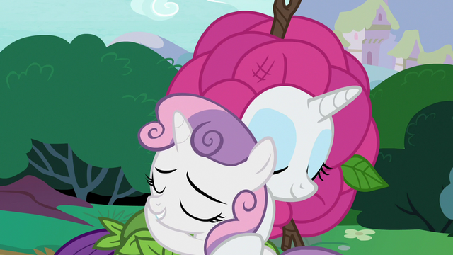 File:Rarity and Sweetie Belle hug and make up S7E6.png