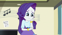Rarity smiling at puppy Spike EGS1