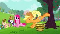 S03E13 Applejack strząsa jabłka