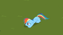 Sad Rainbow Dash on grass S2E8