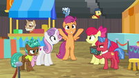 Scootaloo excited about the showcase S9E22