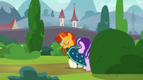 Starlight and Sunburst approach Sire's Hollow S8E8